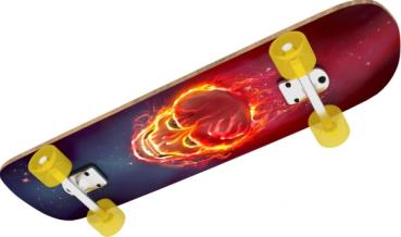 NSP Skateboard Ghostrider, L 78,7 cm  New Sports Skateboard Ghostrider, Länge 78,7 cm